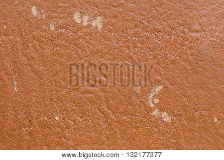Closeup brown leather of old wallet texture background