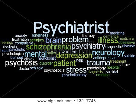 Psychiatrist, Word Cloud Concept 5
