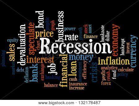 Recession, Word Cloud Concept 5