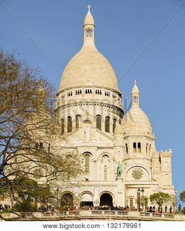 Sacre Cour Basilica, Sacred Heart Cathedral, Montmatre, Paris France