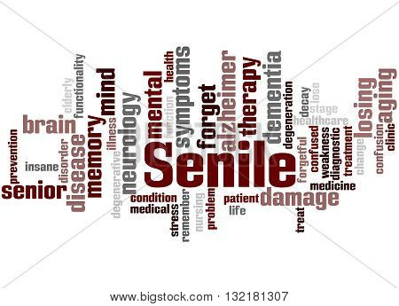 Senile, Word Cloud Concept 3