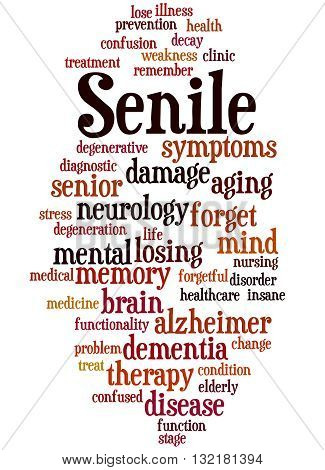 Senile, Word Cloud Concept 5