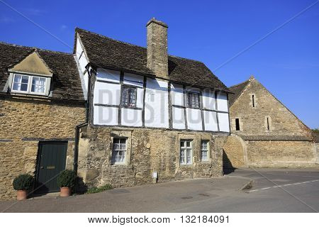 Old houses in Lacock village in Wiltshire