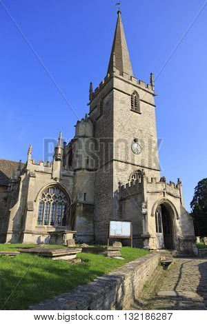 Old church in the village of lacock in WiltshireUK
