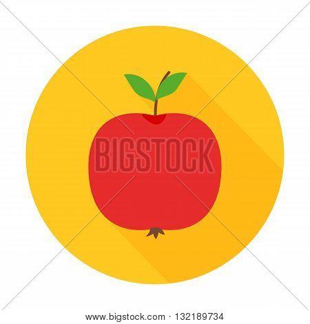 Apple Flat Circle Icon