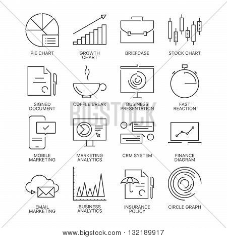 Thin line marketing icons set isolated on white background. Web graphics simple mono outline business symbol collection.  Premium quality best modern linear stroke vector logo concept pictogram pack.