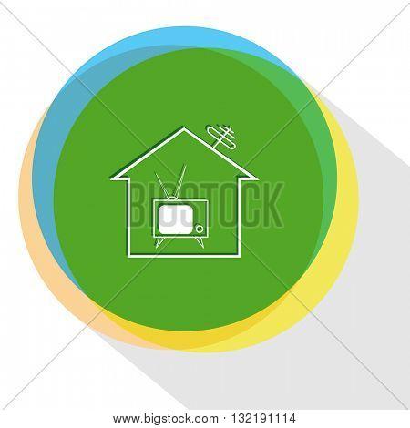 home tv. Internet template. Vector icon.