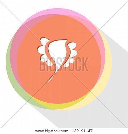 bird. Internet template. Vector icon.