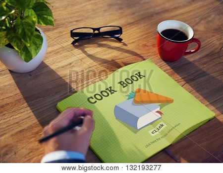 Cook Book Education Meal Preparation Concept