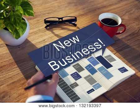 New Business Launch Innovation Start up Concept