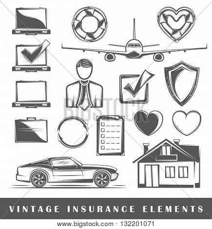 Set Of Elements On Insurance