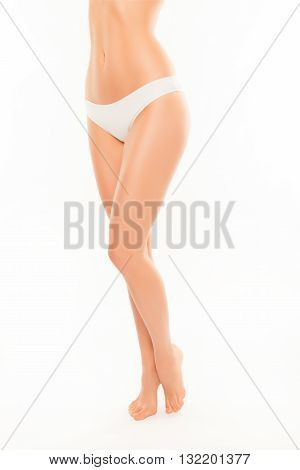 Close Up Photo Of Perfect Woman's Legs With Smooth Skin