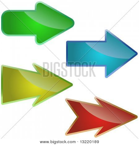Arrow set vector. Set of design elements.