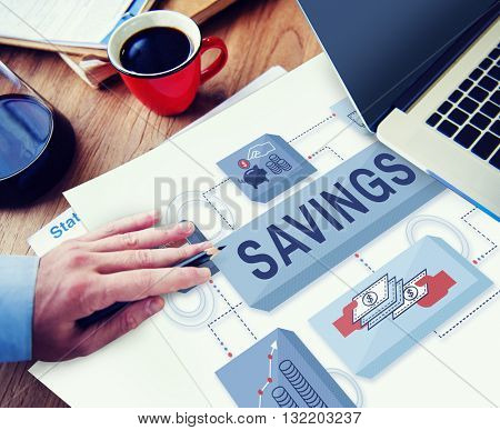 Savings Assets Budget Economy Finance Income Concept