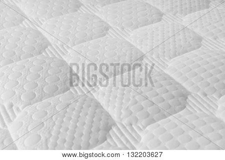 shot of Background of soft white mattress