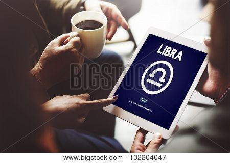 Libra Zodiac Sign Horoscope Myth Stars Symbol Concept