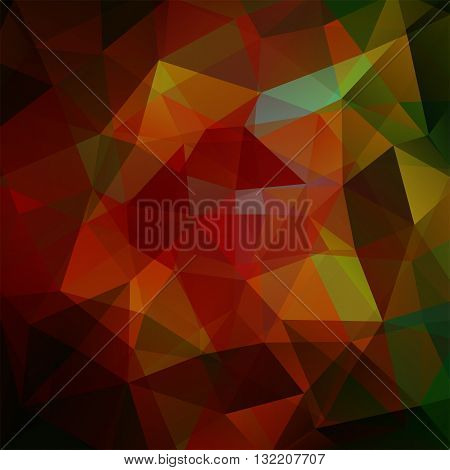 Geometric Pattern, Polygon Triangles Vector Background In Brown And Green Tones. Illustration Patter