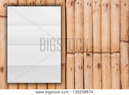 Blank white paper catalog, Magazines book, White paper mock up on wooden background
