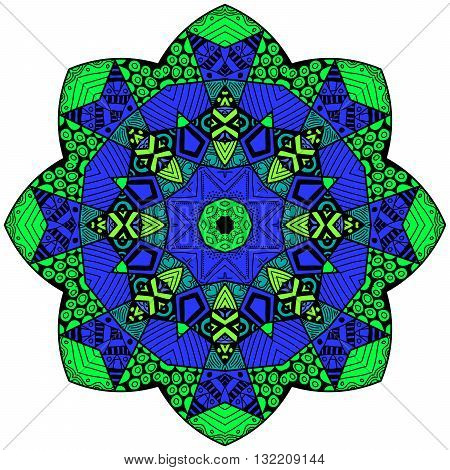 Mandala In Crazy Colors