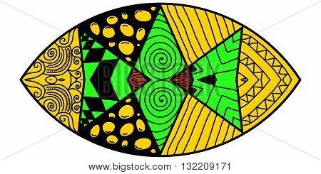 Mandorla With Crazy Colors