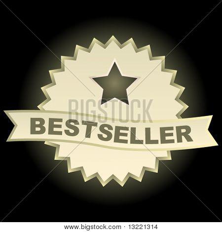 Bestseller emblem. Vector set.
