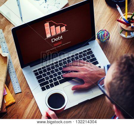 Debt Bill Banking Financial Planning Loan Money Concept