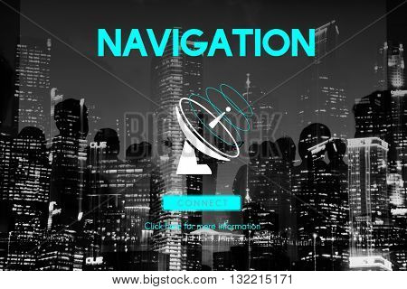 Communication Broadcast Connection Telecommunication Satellite Concept
