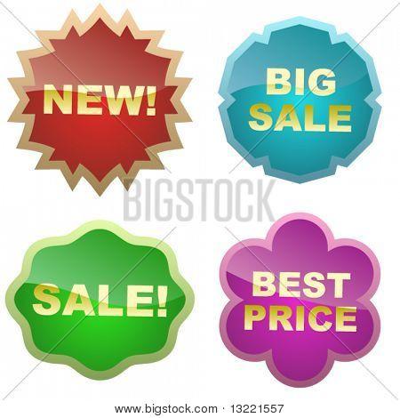 Sale Tags. Set of design elements.