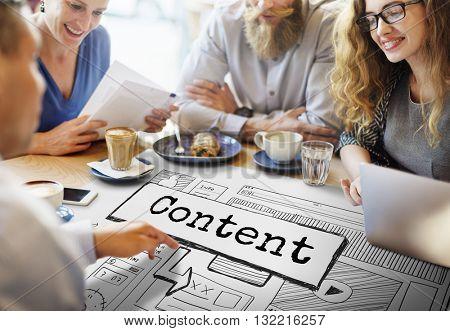 Content Blog Create Analyze Optimize Concept