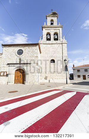 ancient parish church in Cardeñajimeno, Burgos, Spain