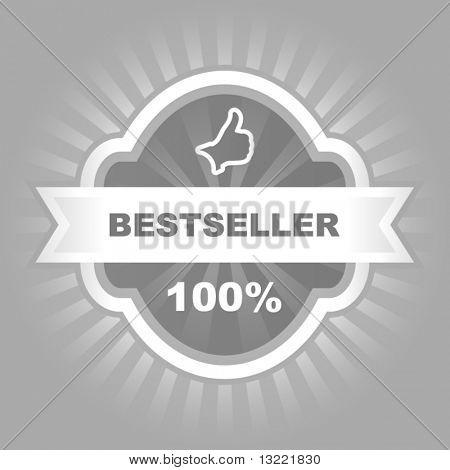 Bestseller vector emblem. Vector template.