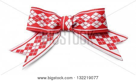 Decorative bow tie, isolated on white