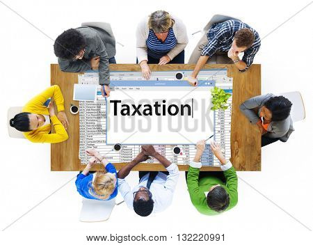 Taxation Payment Finance Economy Accounting Concept