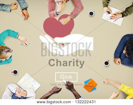 Charity Relief Support Donation Charitable Aid Concept