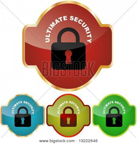 Secure labels with padlock.