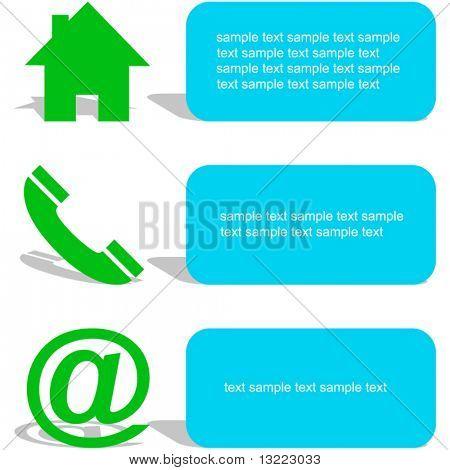 Kontaktelemente für Design.