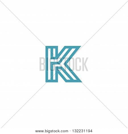 Impossible Letter K Logo design vector Linear Symbol Monogram