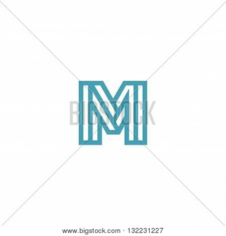 Impossible Letter M Logo design vector Linear Symbol Monogram