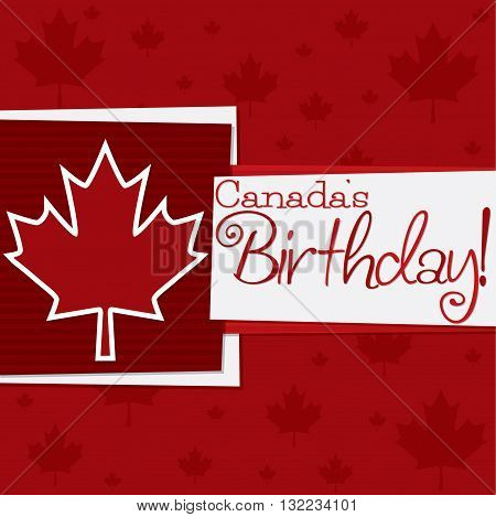 Funky Canada Day Card In Vector Format.