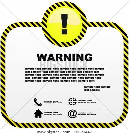 Warning vector template.