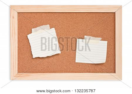 notepad on cork board, bulletin, memory note
