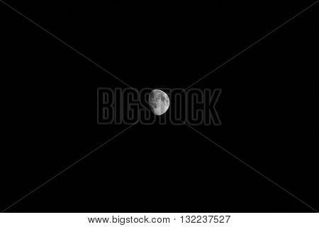 image moon on a dark night sky