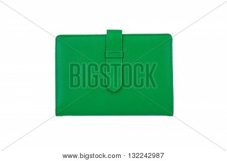 Top view of Green notebook concept for article