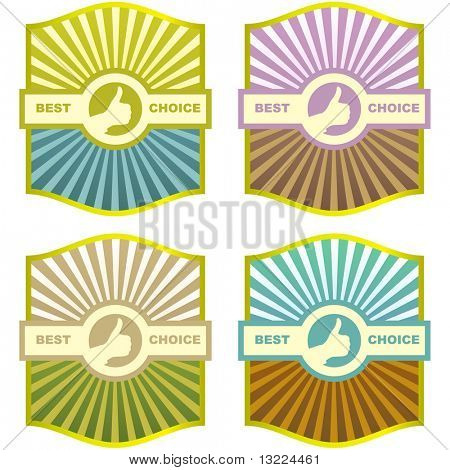 Etiquetas de vector para texto en varios colores