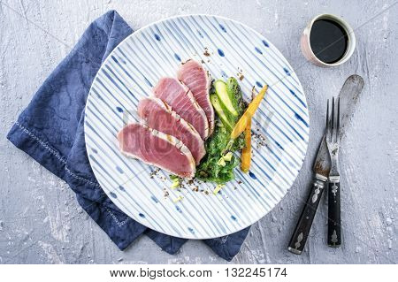 Tuna Filet with Vegetable