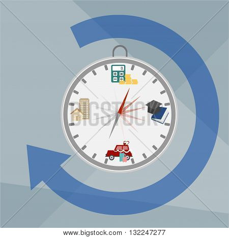 business icons index of life ,compass abstract vector