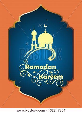 Design celebratory illustration . Ramadan Kareem card