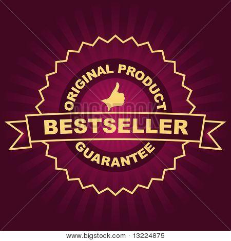 Vector bestseller emblem.