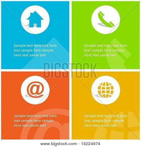 Contact elements for design. Vector set.