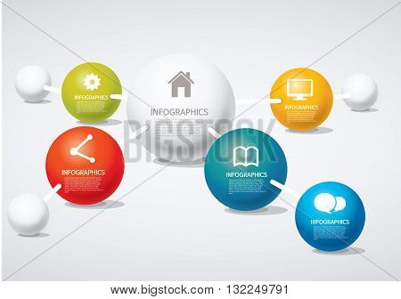 Vector Illustration:   info-graphic - sphere style - network
